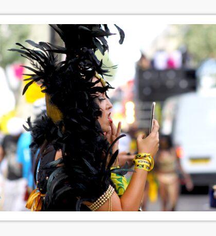 Carnival Make-Up Check Sticker