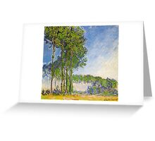 Claude Monet - Poplars View From The Marsh 1892 Greeting Card