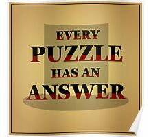 "Professor Layton - ""Every Puzzle has an Answer"" Poster"