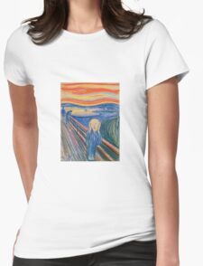Edvard Munch - The Scream 1895 Womens Fitted T-Shirt
