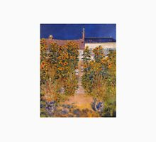 Claude Monet - The Artist S Garden At Vetheuil Unisex T-Shirt