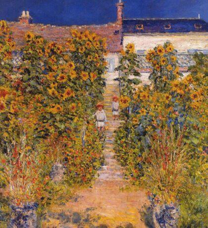 Claude Monet - The Artist S Garden At Vetheuil Sticker