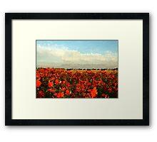 RED IMPRESSIONISM Framed Print