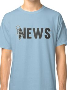 Fuck The News Funny Protest Against Mainstream Media   Classic T-Shirt