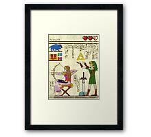 Papyrus Zelda Framed Print
