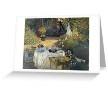Claude Monet - The Luncheon 1 Greeting Card