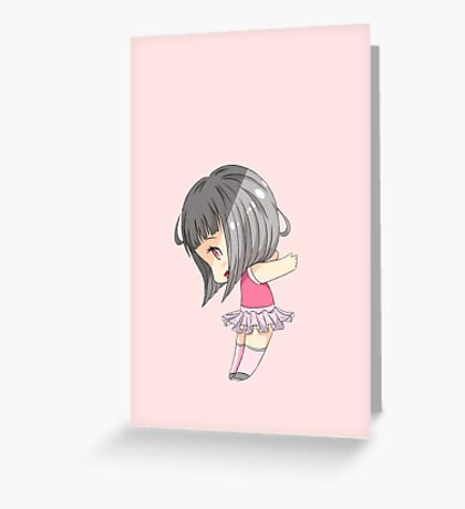 Chibi Maeko Greeting Card