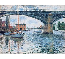 Claude Monet - The Bridge At Argenteuil Grey Weather Photographic Print