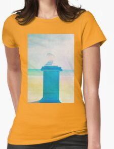 Summer beach in watercolor Womens Fitted T-Shirt