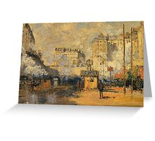 Claude Monet - Saint Lazare Station Sunlight Effect Greeting Card