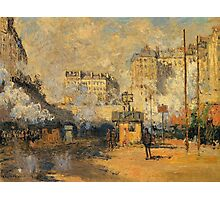 Claude Monet - Saint Lazare Station Sunlight Effect Photographic Print