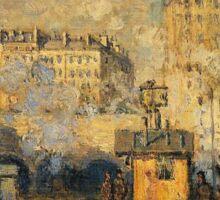 Claude Monet - Saint Lazare Station Sunlight Effect Sticker