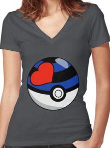 Kinky Ball! GO! Ver. 1 Women's Fitted V-Neck T-Shirt
