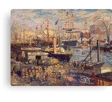 Claude Monet - The Grand Dock At Le Havre 1872 Canvas Print