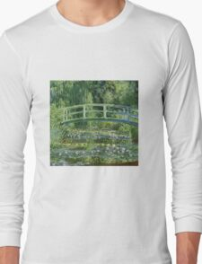 Claude Monet - The Japanese Bridge The Water Lily Pond Long Sleeve T-Shirt