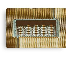 CPU Socket On Computer Motherboard Canvas Print