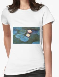 Claude Monet - Water Lilies 1899 Womens Fitted T-Shirt