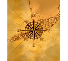 Vintage Compass Rose Photographic Print