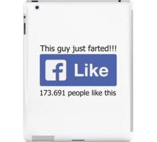 Funny Facebook Farting Status Like iPad Case/Skin