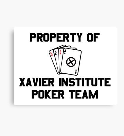 Property of Xavier Institute Poker Team – X-Men, Gambit Canvas Print