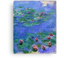 Claude Monet - Water Lilies Red 1919 Canvas Print