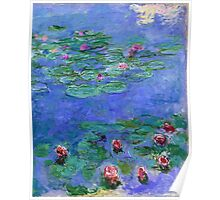 Claude Monet - Water Lilies Red 1919 Poster