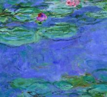 Claude Monet - Water Lilies Red 1919 Sticker