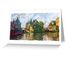 Claude Monet - Zaandam Canal Greeting Card