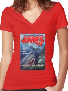 Back to the future - JAWS 19 Women's Fitted V-Neck T-Shirt