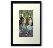 Edgar Degas - Green Dancers Framed Print