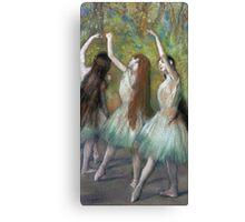 Edgar Degas - Green Dancers Canvas Print