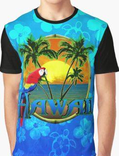Hawaii Sunset Blue Honu Graphic T-Shirt