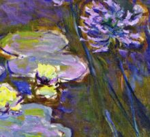 Claude Monet - Water Lilies And Agapanthus 1917 Sticker