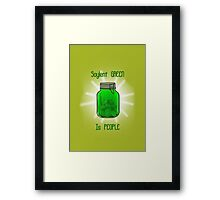 Soylent Green is People! Framed Print