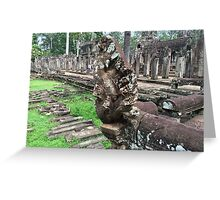 Cambodia - Siem Reap - Naga statuary Greeting Card
