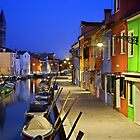 Night falling on Burano island - Venice by Hercules Milas