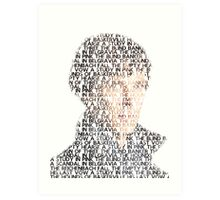 Sherlock From Words Art Print