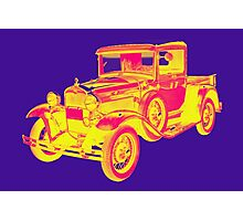 1930 Model A Ford Pickup Truck Pop Art Photographic Print