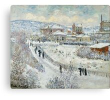 Claude Monet - View Of Argenteuil In The Snow Canvas Print