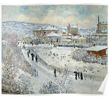 Claude Monet - View Of Argenteuil In The Snow Poster