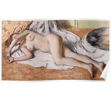 Edgar Degas - After The Bath Or, Reclining Nude Poster