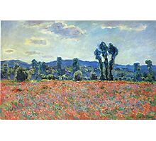 Claude Monet - Poppy Field In Giverny 03 Photographic Print