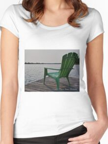 On the waterfront... Women's Fitted Scoop T-Shirt