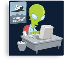 I Want to Believe, X Files Canvas Print