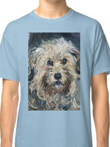 Claude Monet - Detail Of Yorkshire Terrier From Eugenie Graff (Madame Paul) 1881  Classic T-Shirt