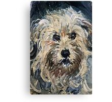 Claude Monet - Detail Of Yorkshire Terrier From Eugenie Graff (Madame Paul) 1881  Canvas Print