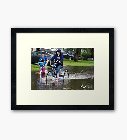 OOOOPS!!!! GUESS THE WATER IS TOO DEEP!!!! Framed Print