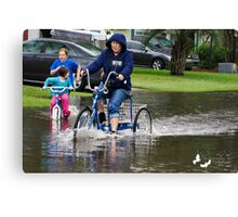 OOOOPS!!!! GUESS THE WATER IS TOO DEEP!!!! Canvas Print