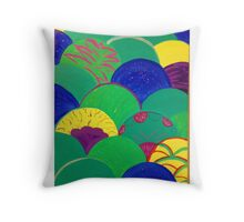 Multi-colored Mermaid Tail  Throw Pillow