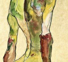 Egon Schiele - Male Nude In Profile Facing Right  Sticker
